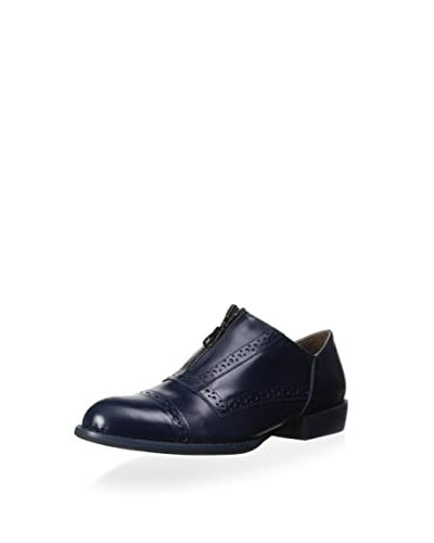 ALL BLACK Women's Zipperman Oxford Flat