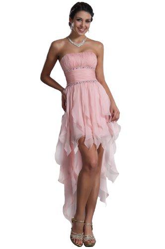 Carlyna eDressit Sin Tirante AsimšŠtrico Tres Colores Vestido de Fiesta Corta (35120301) Talla 44(Pecho:93.98 Cintura:73.66 Cadera:104.14 cm£©