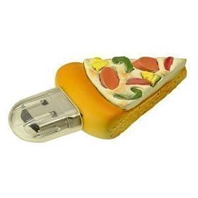 グリーンハウス ピザ型 USBフラッシュメモリ ファーストフードシリーズ 1GB セキュリティー機能付き GH-UFD1GF-PZ