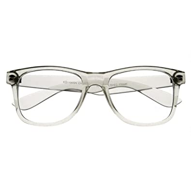Jigsaw Glasses Frames Boots : Amazon.com: Clear Transparent Translucent Crystal Frame ...