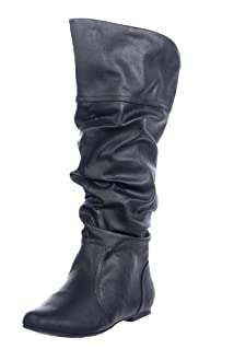 Qupid Women's Classic Slouchy Flat Boot
