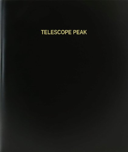 "Bookfactory® Telescope Peak Log Book / Journal / Logbook - 120 Page, 8.5""X11"", Black Hardbound (Xlog-120-7Cs-A-L-Black(Telescope Peak Log Book))"