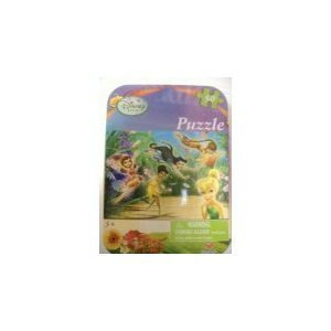 Disney Fairies Mini Puzzle Set(50pcs) - Travel Puzzle Set in Tin - 1