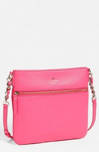 Kate Spade Cobble Hill Ellen Love Pink Leather Crossbody Shoulder Bag Purse front-295571