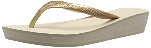 Havaianas Women's High Light Sandal Flip Flop,  Beige, 37 BR/39 EU/7.5 US