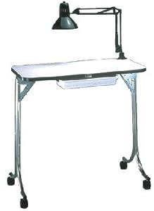 Amazon.com : Kayline Manicure Table #401 White With Light ...