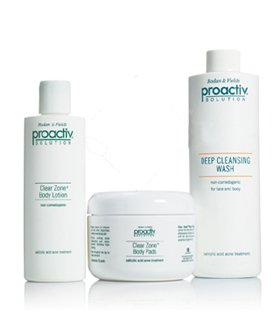 Proactiv 3 Pc Body Kit BODY WASH, LOTION & PADS for Face and Body 8oz ...