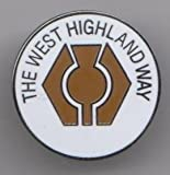 The West Highland Way Milngavie to Fort William Scotland Walk Flag Pin Badge