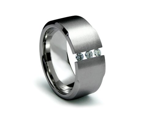 Stainless Steel Diamond Engagement Rings 316l Stainless Steel Ring With