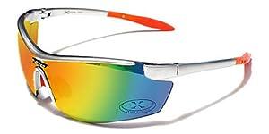 Xloop Gafas de Sol - Deporte - Polideportivo - Mtb - Esquí - Snowboard - Motocicleta - Cyclismo - Kitesurf / Mod. 3550 Gris Naranja / Tamaño único Adultos / 100% de protección UV400