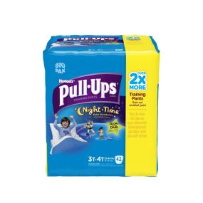 Pull- Up Night Time training pants helps big kids celebrate potty training.