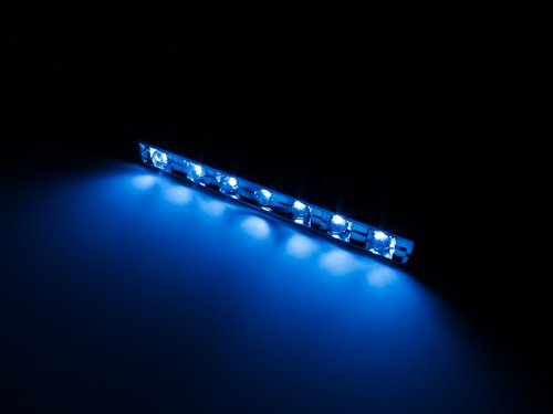 7 Led Pod [Blue] [Chrome Casing], 7Led Neon Pod For Cars / Motorcycles / Boats / Bikes / Atvs / Home / Etc Interior And Exterior Under Dash Lighting Kit - Citie Diy Led Kit. Pod Light Bright 7 Led Accent Glow