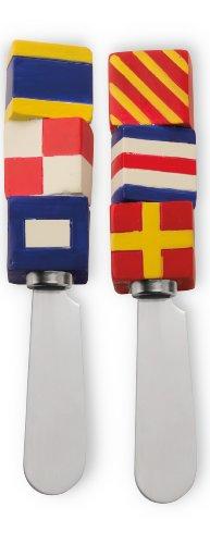 Boston International Cheese Spreaders, Nautical Flags, Set Of 2