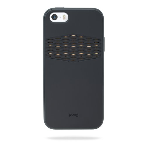 Best Price Pong Rugged Case for iPhone 5s, Charcoal Black with Gold Reveal