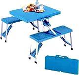 キャプテンスタッグ テーブル アルミピクニックテーブル ブルー M-8421