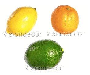 Artificial Decorative Faux Fruit Citrus Set