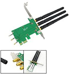 Mini PCIe to PCIe Express Adapter + 3 WiFi Antenna
