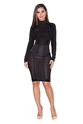 Beautyart Women Bandage Bodycon Dress Sexy Club Dress Party Midi Dress