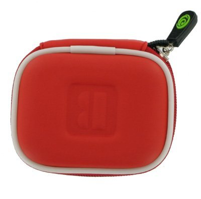 Red Universal Bluetooth Headset Pouch Carrying Case For Jabra Bt125 Bt135 Bt160 Bt185 Bt2040 Bt3010 Bt350 Bt5010, Nokia Bh-900 Bh-803 Bh-800 Bh-703 Bh-700 Bh-602 Bh-302 Bh-211 Bh-202 Bh-208 Bh-201 Hs-26W, Blueant Z9 Z9I X3 V1 V12, Samsung Wep700 Wep500 We