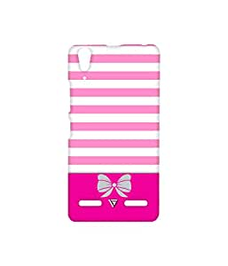 Vogueshell Pink Pattern Printed Symmetry PRO Series Hard Back Case for Lenovo A6000