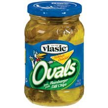 Vlasic Ovals Hamburger Dill Chips Pickles 16 oz (Pack of 12)