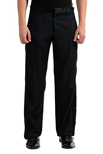 Maison Martin Margiela Men's 100% Wool Black Tuxedo Dress Pants US 34 IT 50
