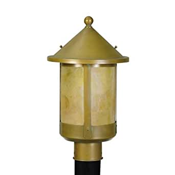 livex lighting round mission vintage brass one light outdoor fixture