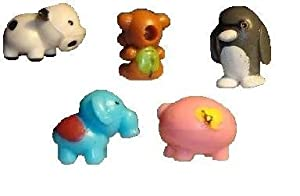 Squishy Animals Pencil Toppers : Amazon.com: Zoo Mania / Pet Friends Collection - Set of 5 Rare Squishies: Toys & Games