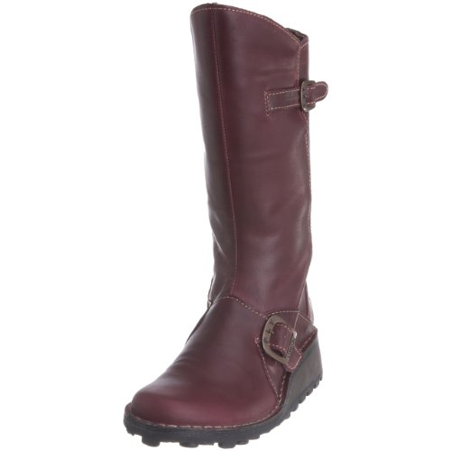 Fly London Women's Mes Mid Calf Boot Leather Purple P210315072 4 UK