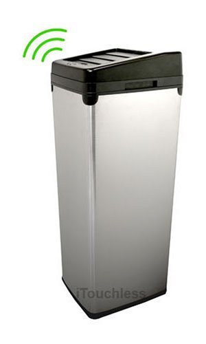 iTouchless Fully Automatic Stainless Steel Touchless Trashcan SX, 14 Gallon (52 Liter) (Sensor Trash Can 13 Gallon compare prices)