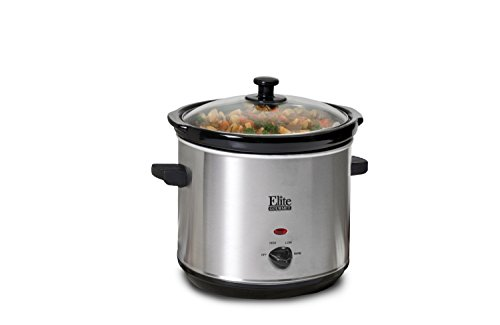 Maxi-Matic Mst-350X Elite Gourmet Slow Cooker, 3-Quart, Silver