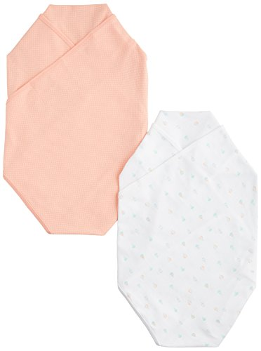Carter's Swaddle Blankets - Peach Dot Balloons - 2 pk