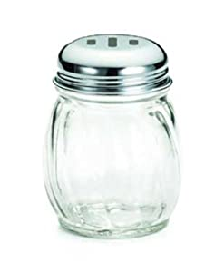 Swirl Glass 6 Oz. Cheese Shaker With Slotted Top