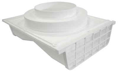Lambro Industries 164W Under-Eave Dryer Vent, Double-Sided, White Plastic, 4 To 6-In. Collar - Quantity 8 front-584123