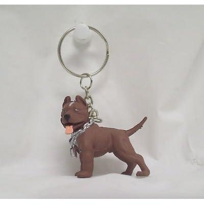 Series2 Hood Hounds Tank Brown & White Pitbull Pit Bull Dog Figure Key