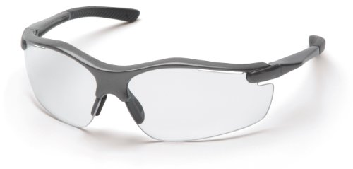 Pyramex Fortress Safety Eyewear, Clear Lens With Gray Frame
