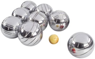 Boule Set of 8 - Polished Alloy Petanque Set