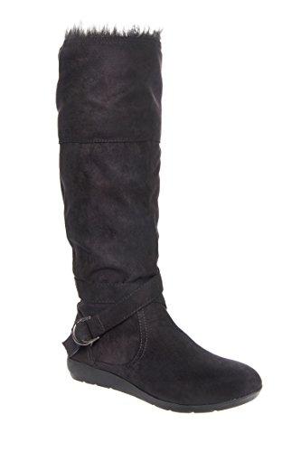 Syreeta Mid Calf Low Wedge Boot