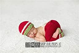 Christmas Morning Newborn Pants Photography Prop with Matching Hat, Baby Boy Props, Newborn Pants, Photo Props