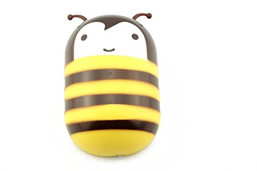 DIY LED Night Light Wall Sticker Creative Cartoon Cute Room Decoration Lamp for Baby Children Kids (Honeybee)