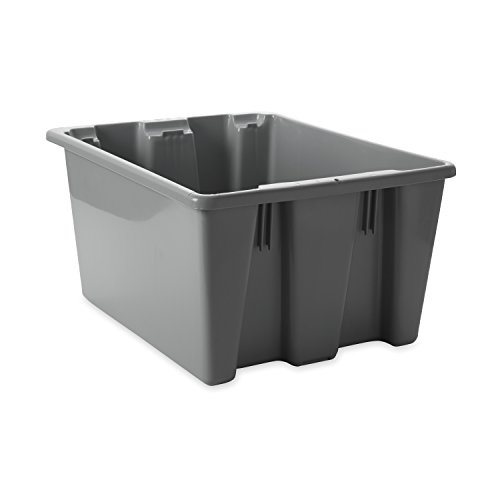 Rubbermaid Commercial FG172100GRAY HDPE Stack and Nest Palletote Lid, 19.5-inch, Gray, lid sold seperately (Rubbermaid Spatula 1933 compare prices)