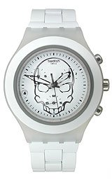 Swatch Full-Blooded White Skull Chrono Men's watch #SVCW4000AG