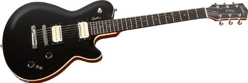 Godin 034499 Icon Type 2 Convertible Black HG newjimmy page number two guitars tea amber sunburst lp guitars one piece neck chrome hardware free shipping 100806