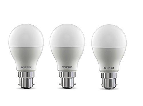 Wipro Garnet 9W B22 LED Bulb (Yellow, Pack of 3)