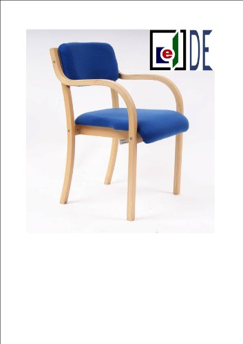 Blue Stacking Armchair, Conference/ Meeting / Waiting / Visitor Rooms, Beech