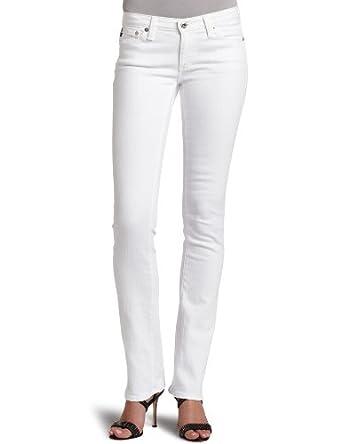 AG Adriano Goldschmied Women's Ballad Slim Bootcut Jean, White, 27