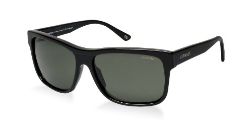 36e1c947eb Versace Sunglasses VE4179 GB158 BlackCrystal Green Polarized 60mm ...