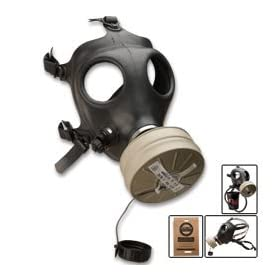 Israeli Issue Gas Mask with Drinking Tube & Sealed Filter