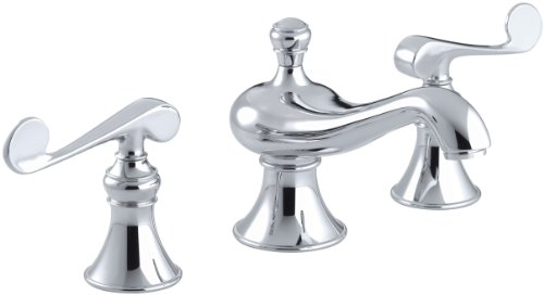Signature Hardware Victorian Widespread Bathroom Faucet: KOHLER K-16104-4-CP Revival Widespread Commercial Bathroom