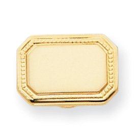 Gold-plated Polished Rectangle Tie Tack - JewelryWeb
